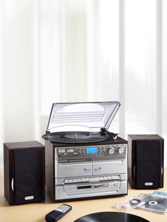 Soundmaster Stereo-Hifi-Musikksenter Soundmaster sølvfarget metallic