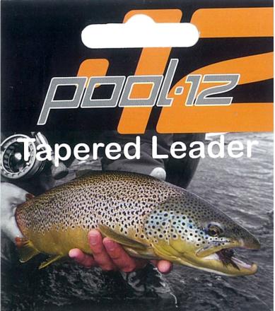 Pool 12 Taperade Tafsar 9', 1X 0,25mm övrig fiskeutrustning 0,20MM