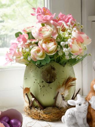 Blomsteroppsats IGEA rosa