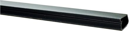 Plasfix 2407-8G Kabelkanal självhäftande, med lock, svart, 2 m x 16 mm