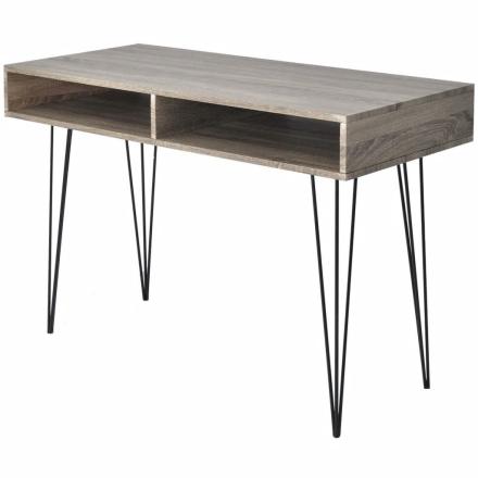vidaXL skrivebord med 2 rum grå