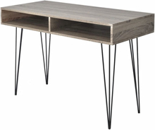 vidaXL Skrivbord med 2 fack grå