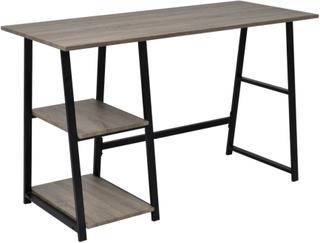 vidaXL skrivebord med 2 hylder grå og eg