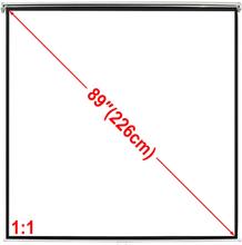 vidaXL Manuell projektorskjerm/lerret 160 x 160 cm matt hvit 1:1