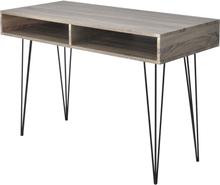 vidaXL Pöytä 2 Osastoa Harmaa