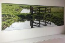 Foto verlijmd achter acrylaat 12x18 cm