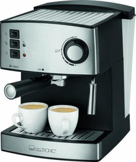 Clatronic ES 3643 Espressomaskine Sort Sølv 1 stk