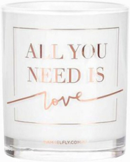 Damselfly Candles All You Need Is Love Rose Gold