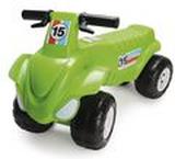 Fyrhjulingsleksak, plast, 630 x 400 x 300mm, grön