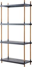 FRAME Bokhylla 205 x 100 cm grå, Cane-line