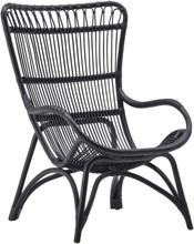 Monet korgfåtölj svart, Sika-Design