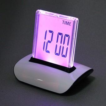 Digitaalinen Herätyskello - 7 värin LCD