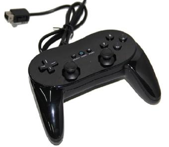 Klassinen Gamepad Käsiohjain Nintendo Wii - Musta