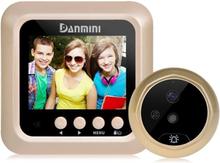 """Dørkamera Danmini 2,4"""" skjerm 2.0MP med videoinnspilling"""