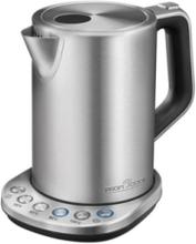 Vattenkokare PC-WKS 1108 - kettle - stainless steel/black - Svart/borstat stål - 3000 W