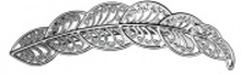 Veronica - Silver Hair Clip With Leaf