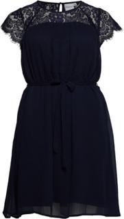 Jrcarolina Ss Dress - K Kort Kjole Blå JUNAROSE