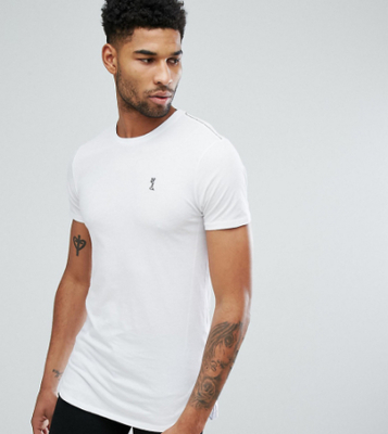 Religion Tall Longline T-Shirt - White