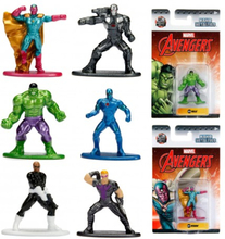 6st Marvel Avengers Nano Metalfigs Samlarfigurer Wave 2