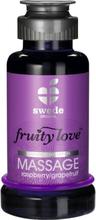 Swede Fruity Love: Värmande Massageolja Hallon/Grapefrukt, 100 ml