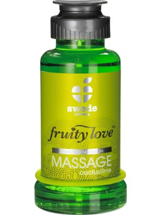 Swede Fruity Love: Värmande Massageolja Kaktus/Lime, 100 ml