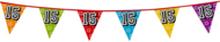 Holografische vlaggenlijn 8 m met het cijfer 15