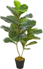 vidaXL Konstväxt Fiolfikus med kruka 90 cm grön