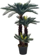 vidaXL Konstväxt Cycas med kruka 125 cm grön