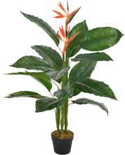 vidaXL Konstväxt Papegojblomma med kruka 100 cm röd
