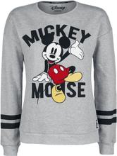 Mickey Mouse - Patch -Collegegenser - gråmelert