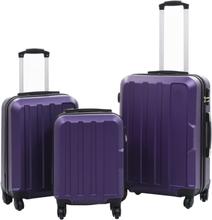 vidaXL Hårda resväskor 3 st lila ABS