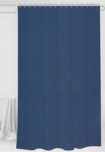 Badeforhæng - Blåt - 180x180 cm. - Inklusiv 12 plastik ringe - Klar til ophæng