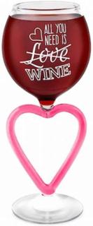 Bigmouth Vin glas vin glas hjärta allt du behöver är vin jätte glas...