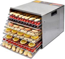 vidaXL Mad dehydrator med 10 Bakker - rustfrit stål
