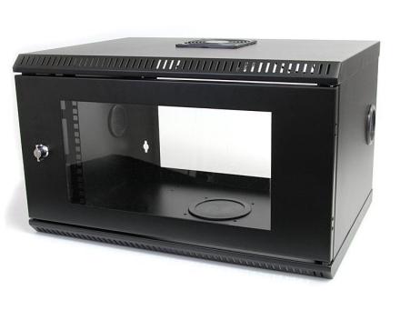 6U 19 tums väggmonterbart serverskåp med akryldörr