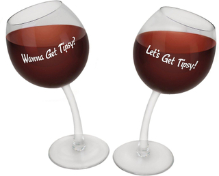 Vin glas vin glas Beschwipstes glas uppsättning 2 355 ml