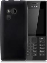 Nokia 216 Enfärgat silikon skal - Svart