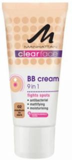 Manhattan BB Cream 9 In 1 Clearface 02 Medium To Dark Skin 25 ml