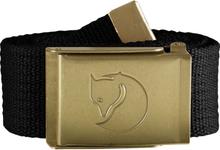 Fjällräven Canvas Brass Belt 4 cm Bälte Svart OneSize