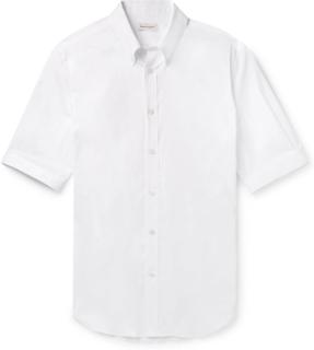 Alexander McQueen - Brad Slim-fit Button-down Collar Stretch Cotton-blend Poplin Shirt - White - M,Alexander McQueen - Brad Slim-fit Button-down Collar Stretch Cotton-blend Poplin Shirt - White - L,Alexander McQueen - Brad Slim-fit Button-down Collar Stre