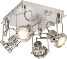 vidaXL 4-vägs spotlight silver GU10