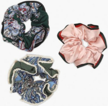 NLY Accessories 3 pack Paisley Scrunchies Håraccessoarer
