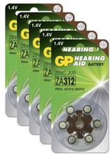 GP BATTERIES GP ZA 312-D6 / PR41, 5-pack GPZA312-D6-5 Replace: N/AGP BATTERIES GP ZA 312-D6 / PR41, 5-pack
