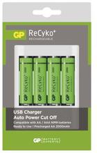 GP BATTERIES GP Recyko U411 + 4st 2000mAh AA GP-U411 Replace: N/AGP BATTERIES GP Recyko U411 + 4st 2000mAh AA