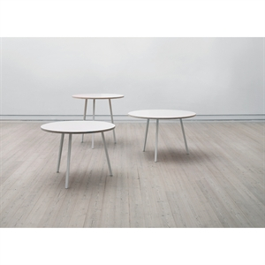 Hay bord - Loop stand - rundt bord - hvid - Ø 105 cm