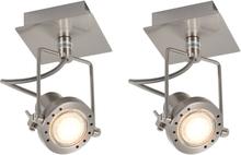 vidaXL Spotlights 2 st silver GU10