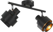 vidaXL 2-vägs spotlight svart E14