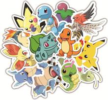 36PCS Pokemon Anime Game Stickers Animal stickers For Luggage Skateboard Bicycle Fridge Laptop Cute Cartoon Sticker Set