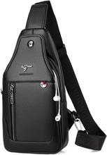 Luxury Brand Messenger Bag Leather Men Chest Bag Vintage Crossbody Shoulder Bag Men's Business Sling Bags Male Casual Chest Pack
