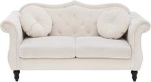 2-istuttava sohva samettinen beige SKIEN